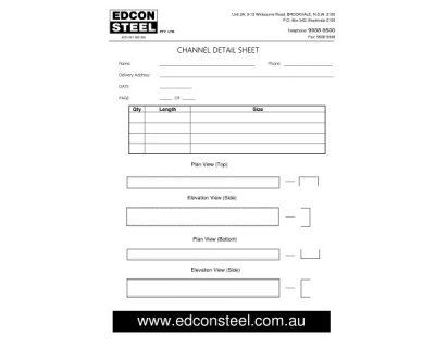 Download Channel Order Form