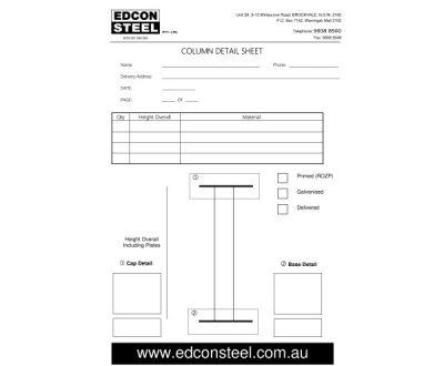 Download Columns Order Form