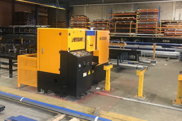 Our new steel cutting equipment