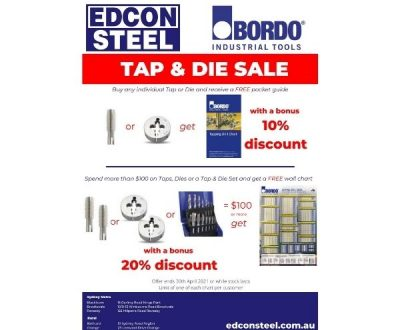 Bordo Tap & Die Sale