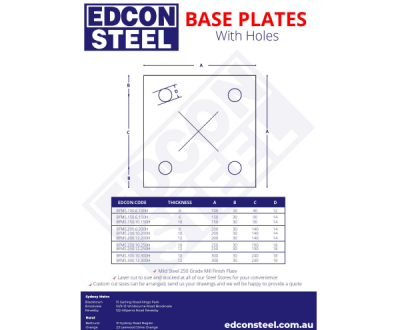 Base Plates with Holes