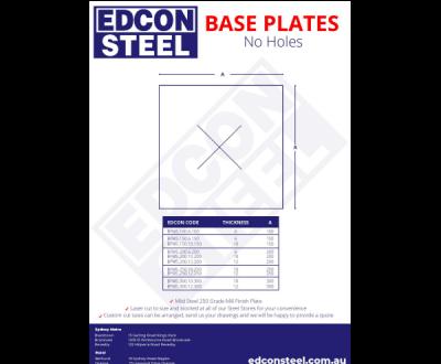 Base Plates no Holes
