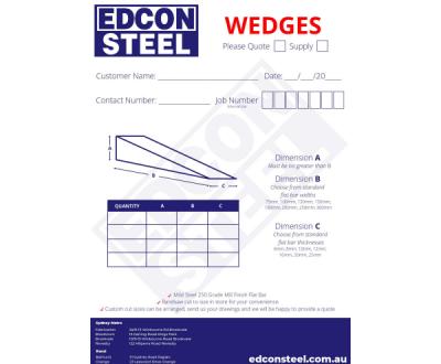 Download Wedge Order Form