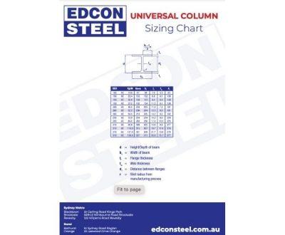 Universal Column Sizing Chart