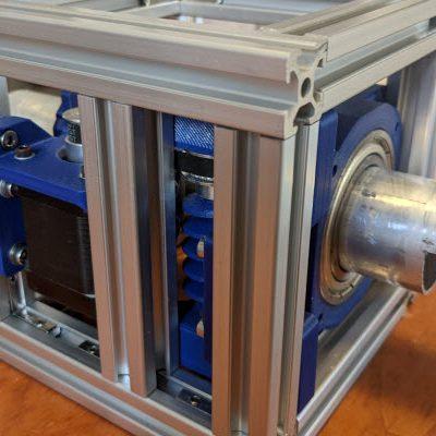 Finn's Satellite Ground Station:  Building an antenna rotator using aluminium round tube